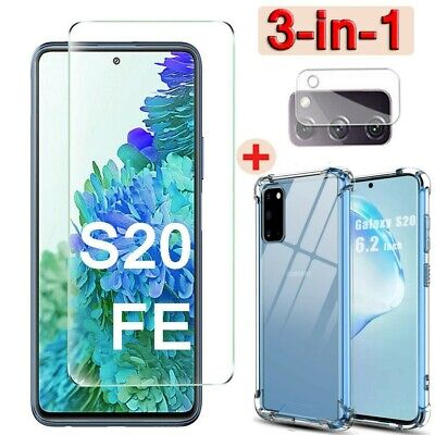 £1.16 • Buy For Samsung Galaxy S20 FE 5G TEMPERED GLASS Screen Protector+Case+Camera Lens ✌✌