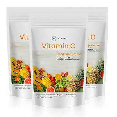 VITAMIN C 500mg Tablets - Ascorbic Acid - Immune Support - HIGH STRENGTH - Vegan • 5.99£