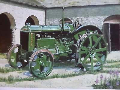 Fordson   N   With Iron Wheels Vintage Tractor Print Colour High Quality Rare • 5£