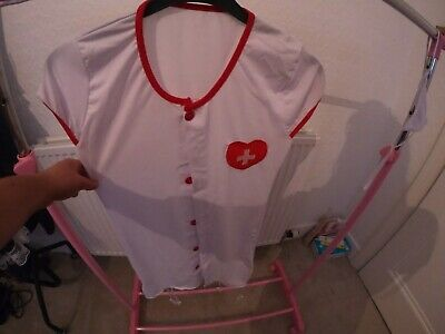 Nurse Outfit Halloween Size 6 With Accessories • 8£