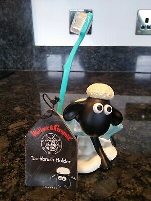 Wallace & Gromit Shaun The Sheep Figure Toothbrush Holder - 1989 • 1£