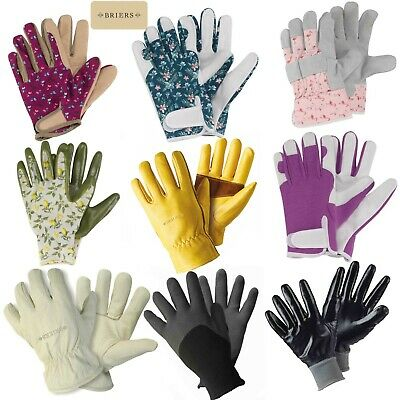 Briers Ladies Leather Gardening Gloves Smart Professional Rigger Flower Winter  • 5.99£