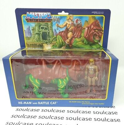 $51.22 • Buy New Super 7 ReAction Masters Of The Universe He-Man And Battle Cat Nonmint Box