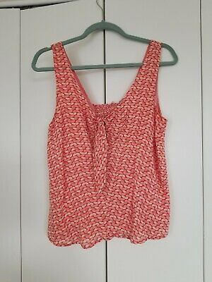 $ CDN15.73 • Buy Anthropologie MAEVE Pink Cotton Tank Top Flowy Tunic Small EUC