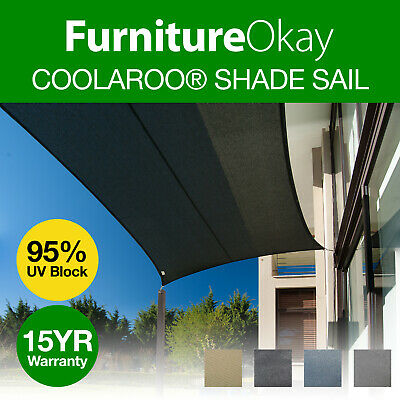 AU210 • Buy Coolaroo® Commercial Grade Shade Sail 95% UV Triangle Rectangle Square 340GSM