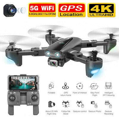 AU132.65 • Buy 5G Drones X Pro With HD Camera GPS 1080P 4K Follow Me Wifi FPV Quadcopter Drone