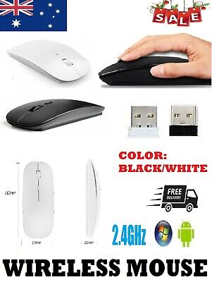 AU8.99 • Buy  2.4GHz Wireless Mouse Optical USB Mice Slim Silent Gaming Computer Laptop PC AU