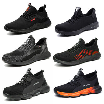 Mens Lightweight Safety Trainers Steel Toe Cap Women Work Shoes Hiking Boots UK • 25.99£