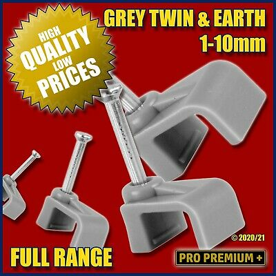 Grey Flat Cable Clips Nail Holder Wall Tacks Clamps T&E Electrical Wire 6242Y • 3.29£