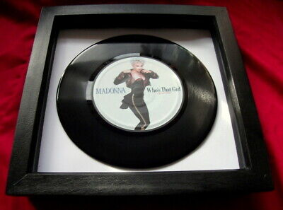 Madonna Who,s That Girl  7  Replica Framed Vinyl Single  Quality Ideal Gift  • 16.99£