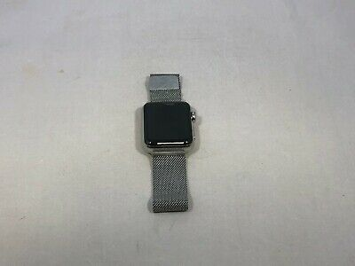 $ CDN210.51 • Buy Apple Watch Series 3 Cellular Silver Stainless Steel 38mm Silver Milanese READ