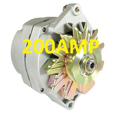 $ CDN169.18 • Buy 200amp High Amp  Alternator Self Exciting 1 Wire System For Chevy Gm Buick
