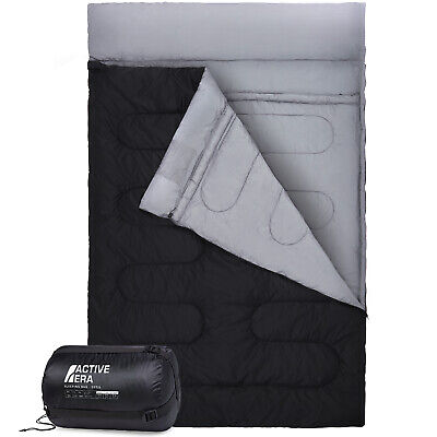 Double Sleeping Bag - Extra Large King Size - Converts To 2 Singles - 3 Season • 36.99£