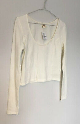 AU31.28 • Buy URBAN OUTFITTERS Scoop Neck Top Long Sleeve Casual BNWT M UK 12