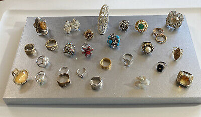 $ CDN1.30 • Buy Vintage To Now Ring Lot 28 Pieces Costume All Wearable #10