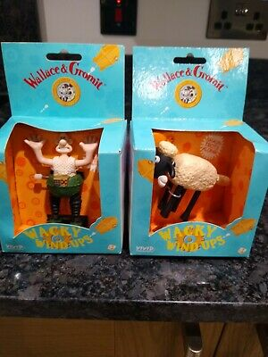 Wallace & Gromit - Wacky Wind Ups - Shaun The Sheep & Wallace - New In Boxes • 1£
