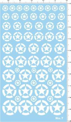 £3.99 • Buy Water Slide Decals 1/48,1/72 USA Tank Marks (7 White) For Model Kits