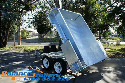 AU7500 • Buy 9x5 HEAVY DUTY GALVANISED HYDRAULIC TANDEM TIPPER TRAILER ATM 3.5T 3500KG