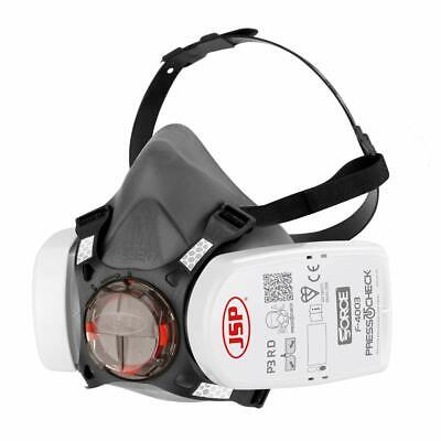 JSP Force 8 Protective Safety Mask P3 PressToCheck Filters INCLUDED • 24.50£