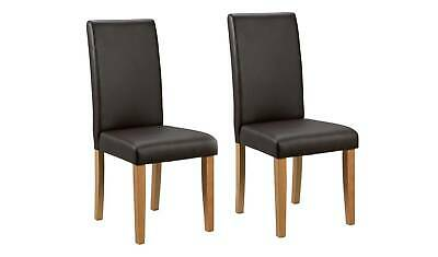 £69.99 • Buy Pair Of Midback Dining Chairs - Chocolate