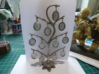 Past Times Vintage Tree Oval Photo Frame Silver Plated 12 Miniature Frames • 14.99£