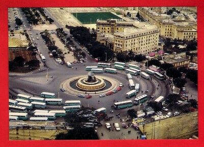 Malta Postcard - Valletta Bus Terminal - Green Livery Buses - Click! Card C.'80s • 2.95£