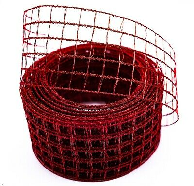 5 Meters Net Wire Mesh Ribbon Gift Wrapping Christmas Decoration Floral  Crafts • 5.59£