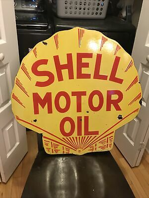 $ CDN344.84 • Buy Old Shell Oil Rack Display Porcelain Sign