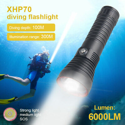 AU35.71 • Buy Ultra Bright XHP70.2 LED Diving Flashlight Underwater 100M Scuba Dive Torch Lamp