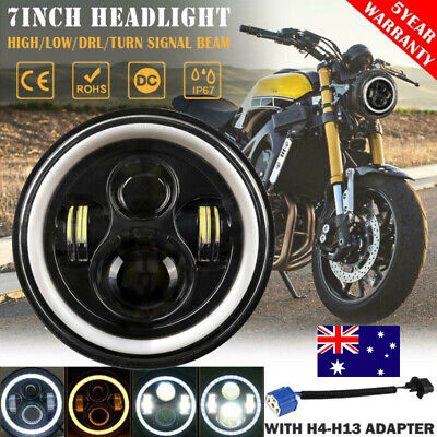 AU49.99 • Buy 7  Inch LED Headlight Projector DRL Motorcycle For Harley Dyna Cafe Racer Bobber