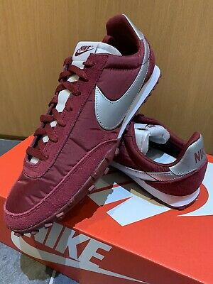 Nike Air Waffle Racer UK 9.5 Eur 44.5 Team Red Silver (maroon) Retro Runners New • 59.99£