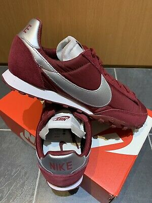 Nike Air Waffle Racer UK 9 Eur 44 Team Red Silver (maroon) Retro Runners Vortex • 59.99£