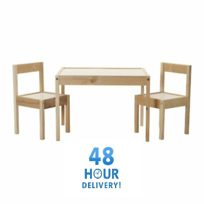 IKEA LATT Children's Small Table And 2 Chairs Wooden Pine Kids Furniture Set New • 39.99£