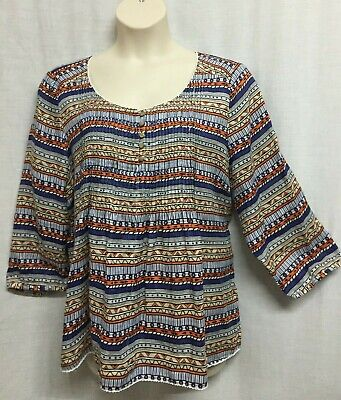 AU36.95 • Buy The Clothing Company Tunic Top Blouse Size 22 Linen 3/4 Sleeve Smart Casual NEW