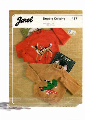 Jarol Knitting Pattern, Childs, Sweater, 22-28, 437 • 1.50£