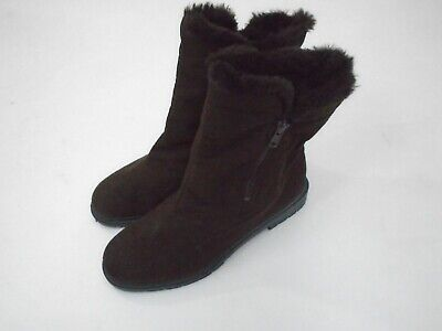£15.99 • Buy Rohde Womens Brown Faux Suede Boots Fur Lining Rubber Soles UK Size 8 EU 42