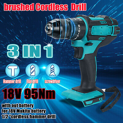 £28 • Buy 3 IN 1Replace For MAKITA 18V Cordless Brushed Impact Driver 1/2  Hammer Drill