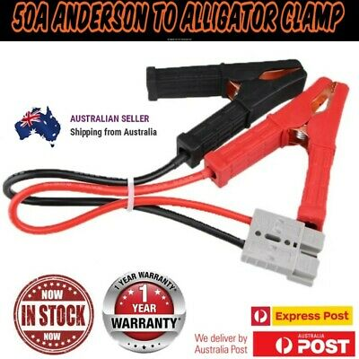 AU13.49 • Buy 50a Anderson To Battery Alligator Clamps. 8AWG 300MM CABLE