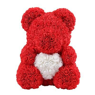 AU30.40 • Buy Preserved Flower Rose Bear Soap Artificial Flowers Valentine (Red)