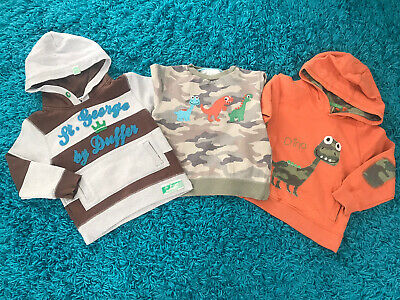 Boys Dinosaur Hoodie Jumpers Sweatshirts Clothes Size Age 3-4 Years • 14.99£