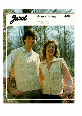 Jarol Knitting Pattern, His & Hers Aran Knits, 34-44, 465 • 1.50£