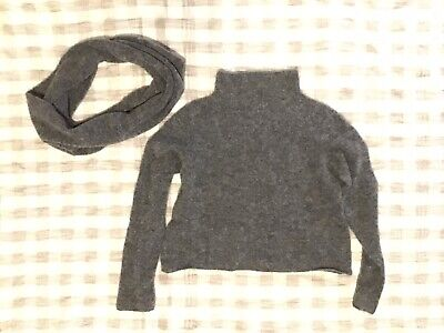 SARAH PACINI Merino/Mohair Super Soft Spongy Jumper With FREE Cowl • 109£