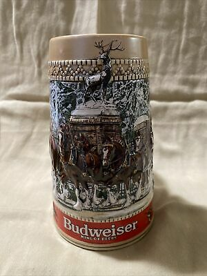 "$ CDN11.28 • Buy 1987 Budweiser Holiday Stein ""C"" Series Mint Condition"