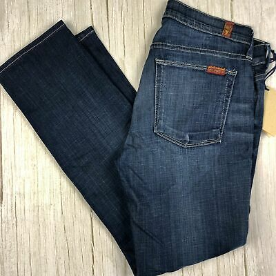 AU110 • Buy NWT- 7 For All Mankind Ladies Slim Straight Jeans Size- 28