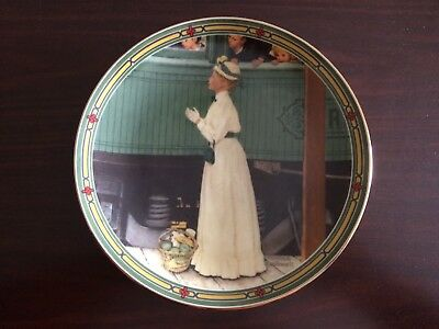 $ CDN14.27 • Buy Norman Rockwell Plate -  A Mother's Welcome