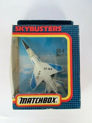 Matchbox Skybusters SB-4 Mirage F1 Jetfighter Plane New In Open Box • 5.99£