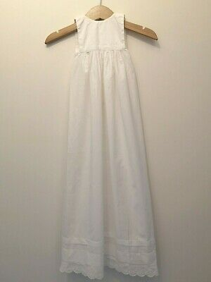 Vintage Babies White Christening Gown Sleeveless • 19.99£