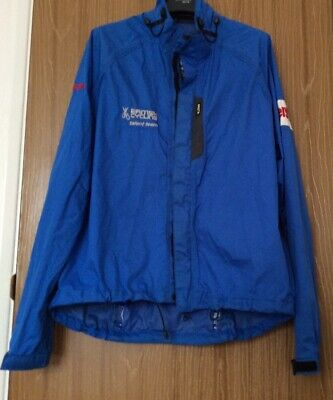 Gill Mens British Cycling Team Waterproof Light Jacket  Blue Large • 26£