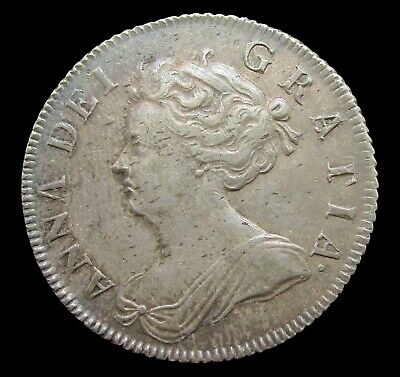 £695 • Buy Queen Anne 1705 Silver Shilling - Plain In Angles - Vf+