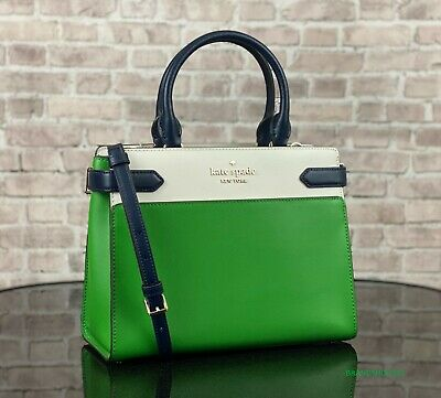 $ CDN152.46 • Buy Kate Spade Staci Leather Medium Satchel Crossbody Shoulder Bag Purse $399 Green